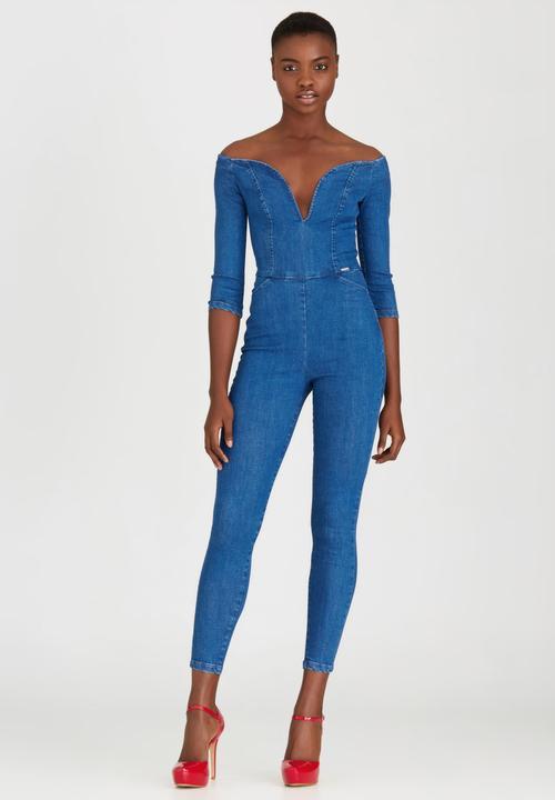 6d6cd9882605 Huntress Denim Jumpsuit Mid Blue Sissy Boy Jumpsuits   Playsuits ...