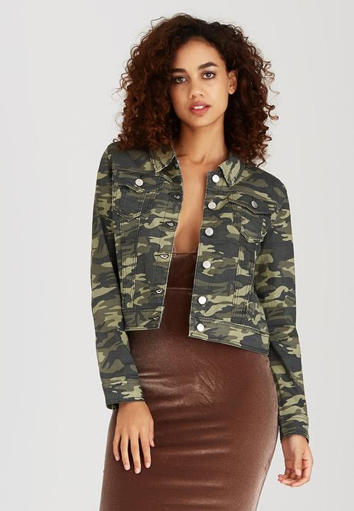 d8b3071c14e5f Camouflage Denim Jacket Khaki Green Boohoo Jackets | Superbalist.com