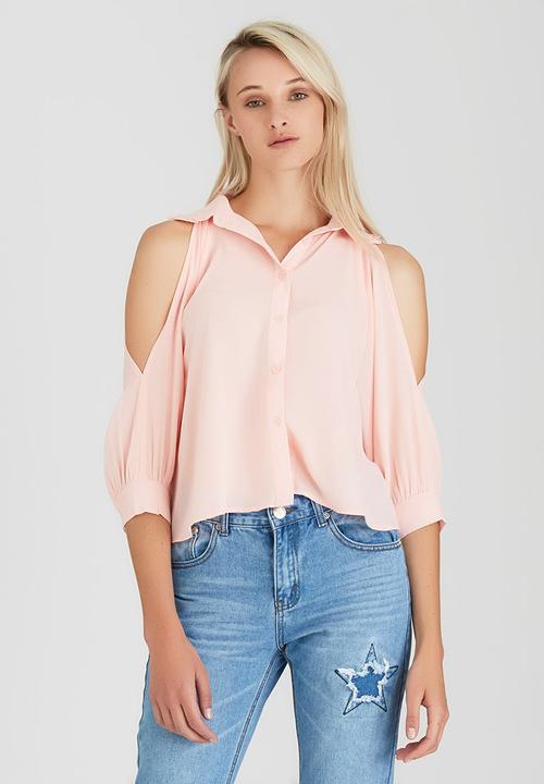 c725dcfafd7 Cold Shoulder Blouse Mid Pink Boohoo Shirts | Superbalist.com