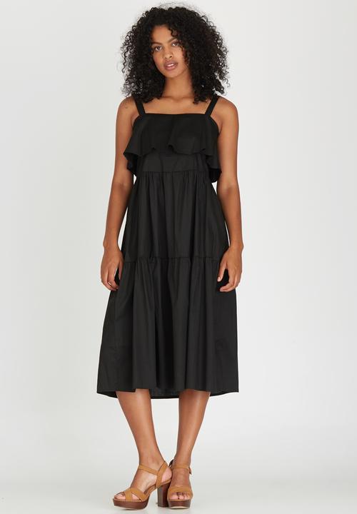 3eebb39ef1d Tiered Dress Black STYLE REPUBLIC Casual