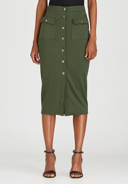 29683b4f784d Utility Midi Skirt Dark Green STYLE REPUBLIC Skirts | Superbalist.com