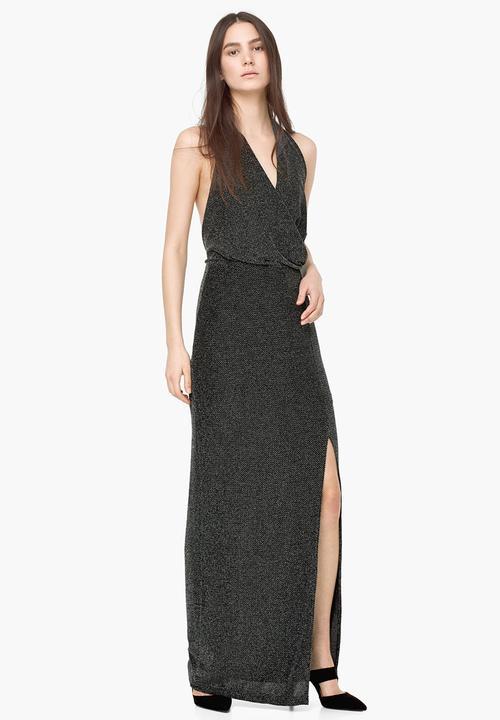 Halterneck Evening Dress Dark Grey Mango Occasion Superbalist