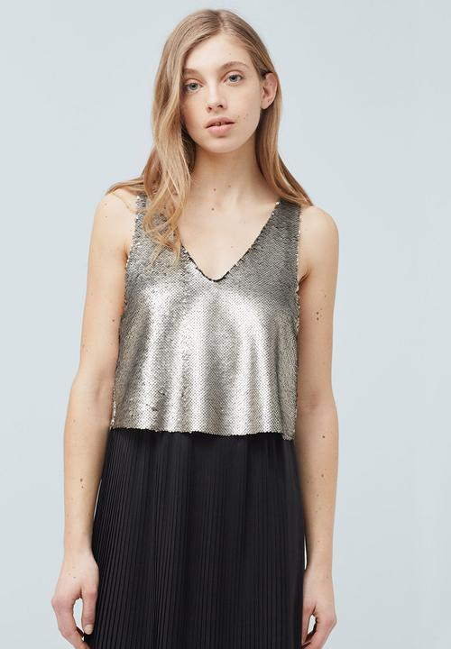 cd570148c95 Reversible Sequins Top Silver MANGO T-Shirts, Vests & Camis ...