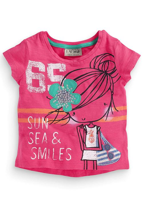 a4c44609f Flower Applique T-Shirt Mid Pink Next Tops   Superbalist.com