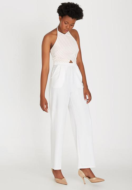8a4035ae2 Backless Full Length Jumpsuit Cream Girls on Film Jumpsuits ...