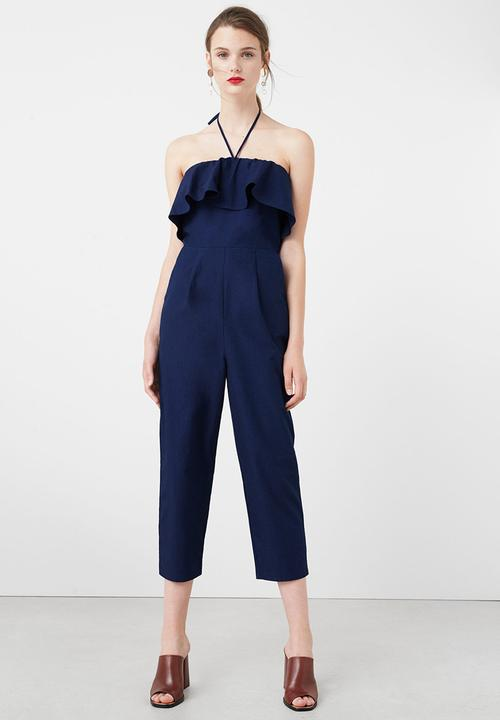 3e1e5e08 Frilled Jumpsuit Navy MANGO Jumpsuits & Playsuits | Superbalist.com