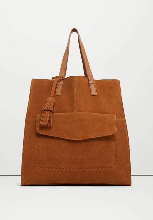 678d981d8 Suede Adele Shopper Bag Tan MANGO Bags & Purses | Superbalist.com