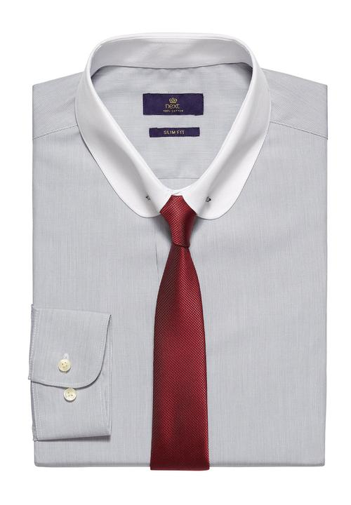 34213be77a Striped shirt, tie and collar set Pale Grey Next Formal Shirts ...