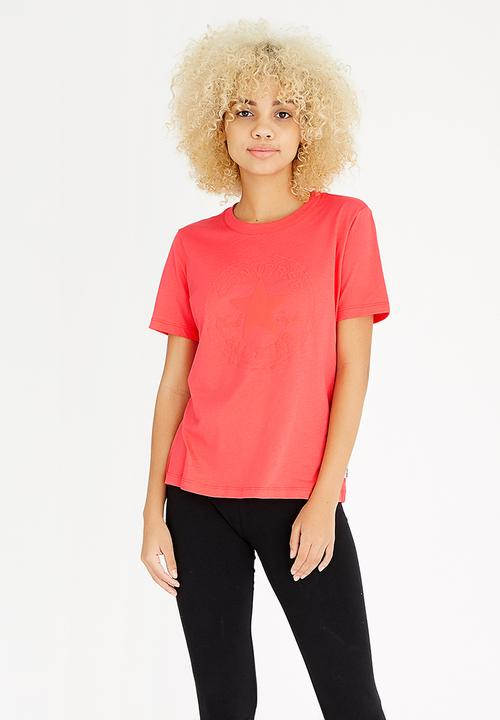 7f7dd13453a5 Converse - Puff Crew Tee Red. ON SALE
