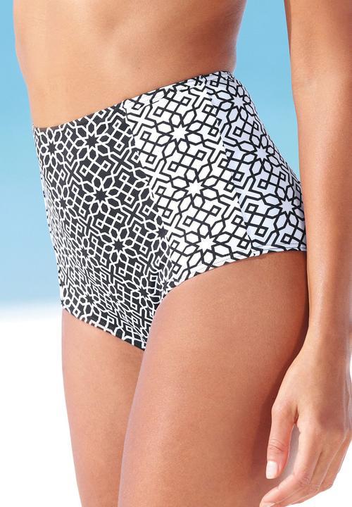 286cb62cb9 High-waisted Bikini Bottom Black/White Black and White Next Bikinis ...