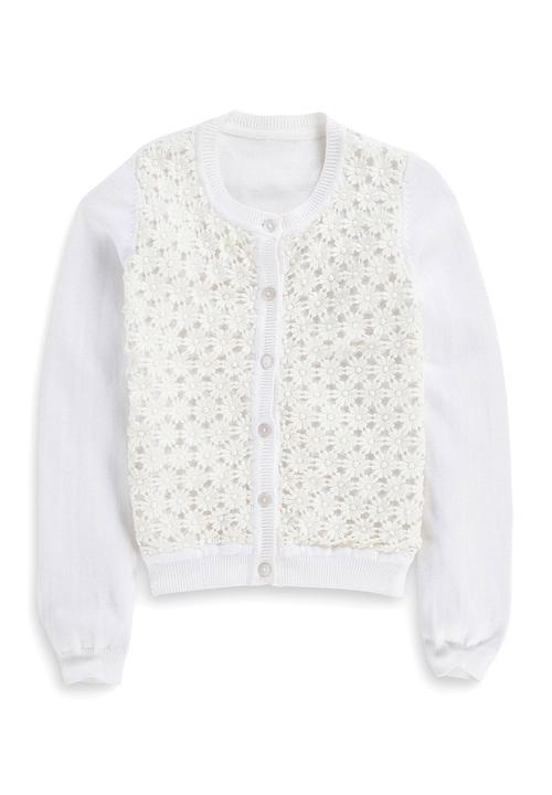 Daisy Crochet Cardigan White Next Jackets Knitwear Superbalistcom