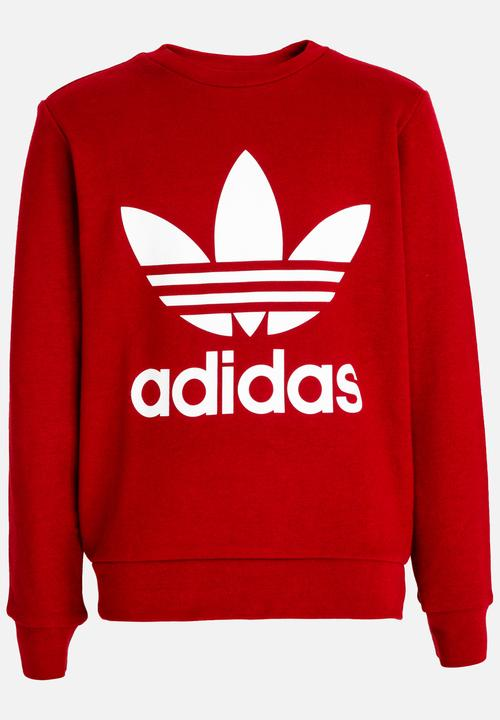 9fb5cb4bc139 J TRF Crew Sweatshirt Burgundy adidas Originals Tops