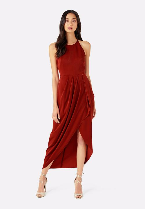 b28532667f Abbey Wrap Maxi Dress Rust Forever New Formal