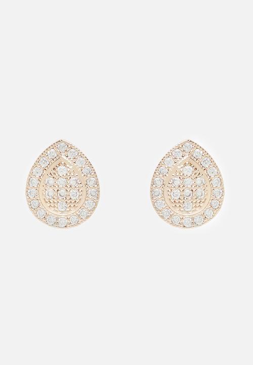 ccb7d5e0b Quinn Cubic Zirconia Teardrop Earrings Rose gold Forever New ...