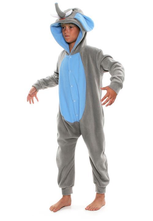 e36cce6934ba Elephant Onesie Blue and Grey aFREAKa Clothing Sleepwear   Underwear ...
