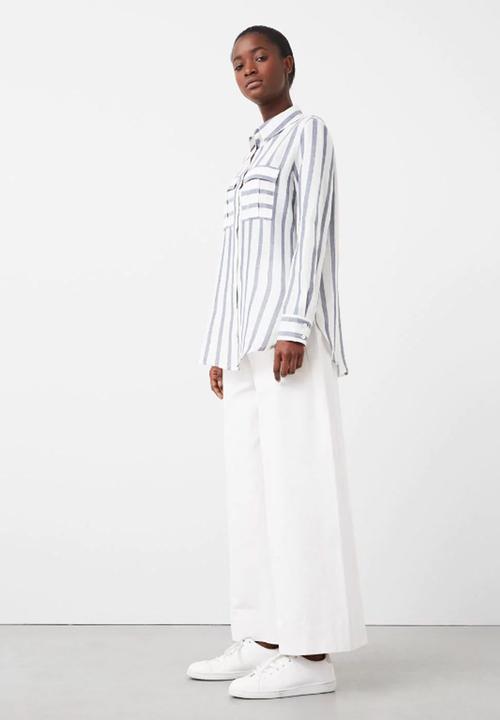 1dcafaf5ce Striped Shirt Blue and White MANGO Shirts   Superbalist.com