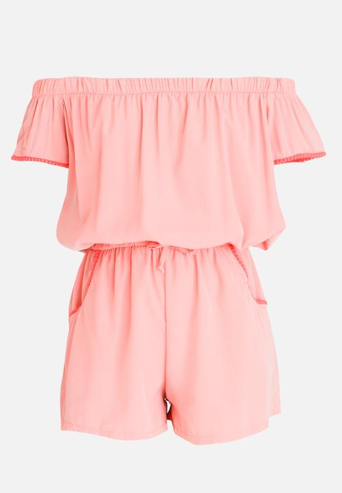 556b07d736 Bardot Playsuit Pale Pink Rebel Republic Dresses   Skirts ...