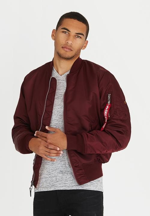 Favoriete MA-1 Classic Bomber Dark Red Alpha Industries Jackets &IW92