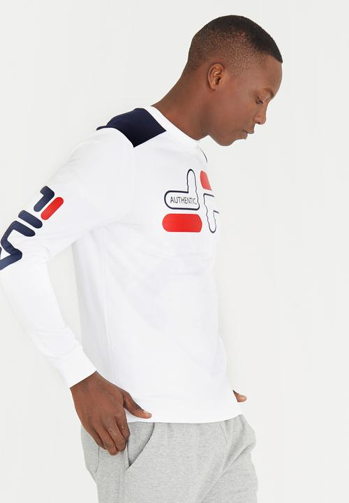 e9fa6623108d Cappi Crew Neck Sweatshirt White FILA Hoodies & Sweats | Superbalist.com