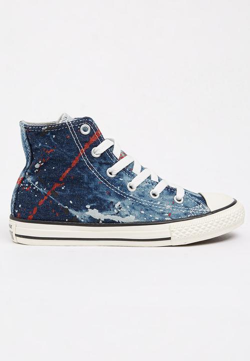 989b316e56b1 Chuck Taylor Denim Splatter High Top Sneaker Grey Converse Shoes ...