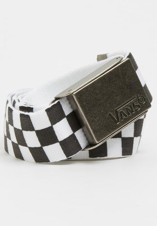 29827d5069 Deppster Web Belt Black and White Vans Belts