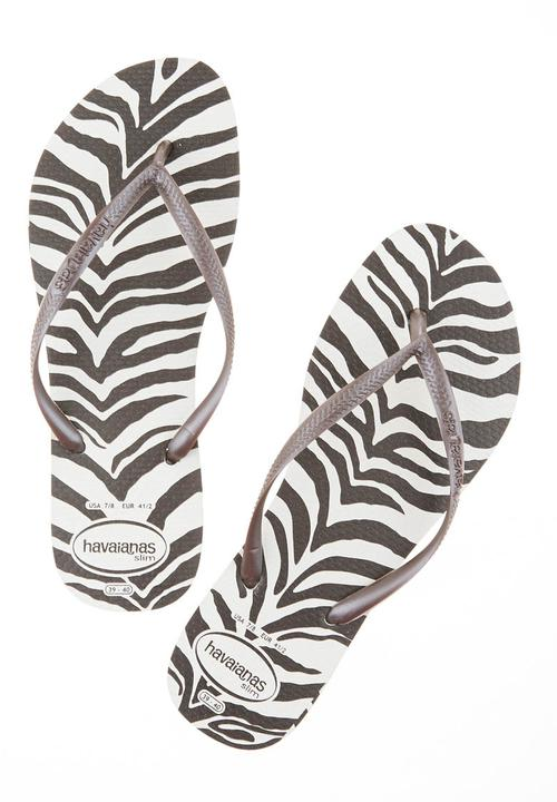 a9b0645fc822 Havaianas with zebra sole Brown Havaianas Sandals   Flip Flops ...