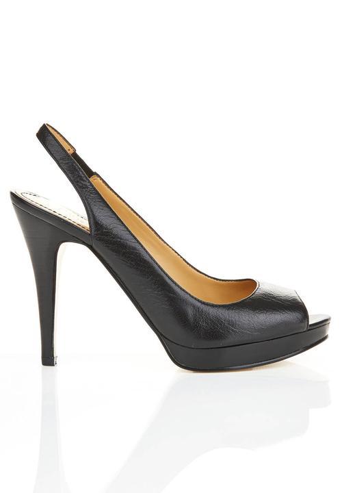 b304807fd7 Leather slingback shoes Black Nine West Heels   Superbalist.com