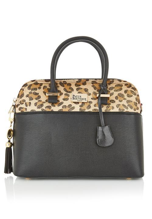 ed64235500c Bag with animal-print detail Black Paul s Boutique Bags   Purses ...