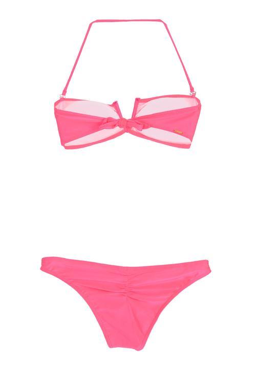 ddfb1c581995b Neon bandeau bikini set mid pink FUNKY FISH Bikinis