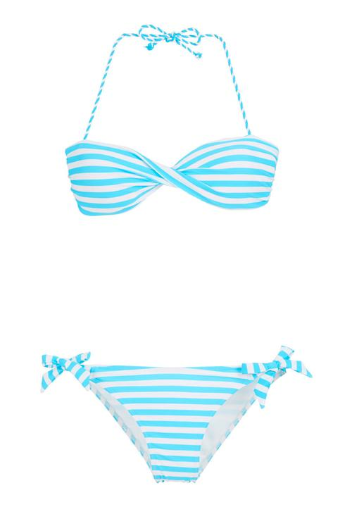 b16a8f9ac1 Striped bikini set Pale Blue Scarlett Swimwear Bikinis