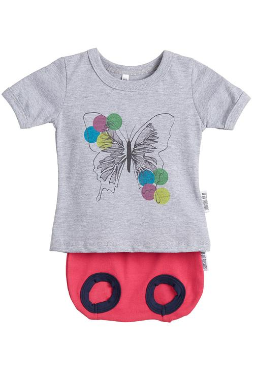 b577185f2 Printed T-shirt with bloomer set Petit Pois Babygrows & Sleepsuits ...
