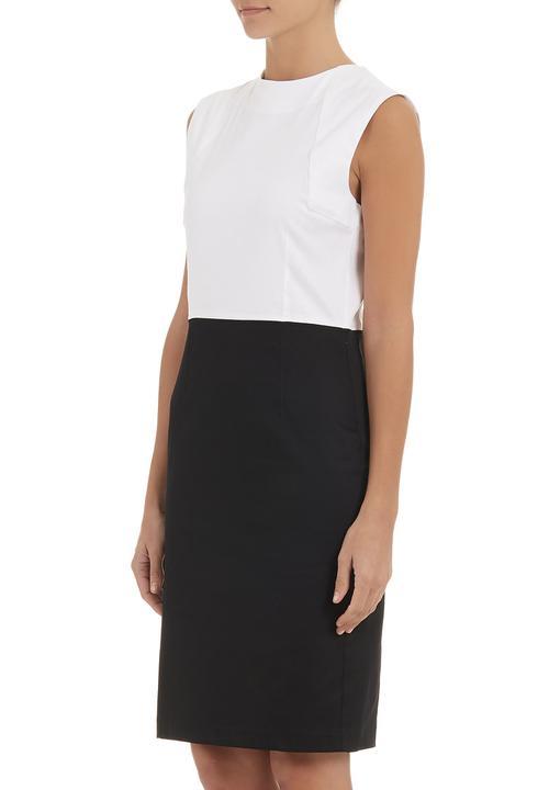 195dd2240b Raegen colourblocked pencil dress Black/White adam&eve; Formal ...