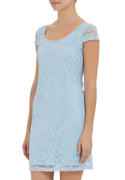 Lace Dress With Cap Sleeves Pale Blue