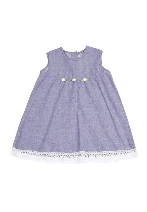 13dc8b218d Baby dress with lace hem Mid blue Just chillin Dresses & Skirts ...