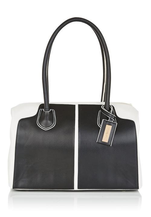 Pringle Of Scotland Annabel Shoulder Bag Black White
