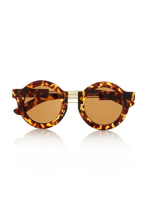 9aee17f37 Round tortoiseshell sunglasses Multi-colour Fred Tsuya Eyewear ...