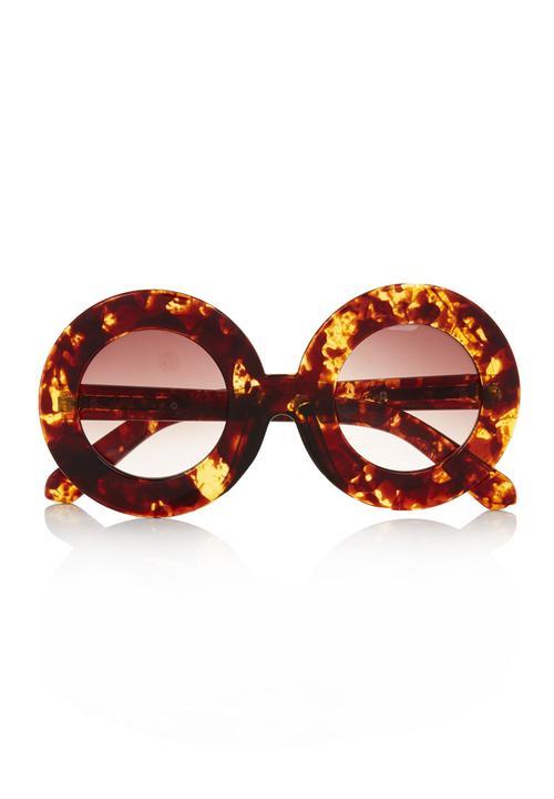 396bd1afb Large round tortoiseshell sunglasses Multi-colour Fred Tsuya Eyewear ...