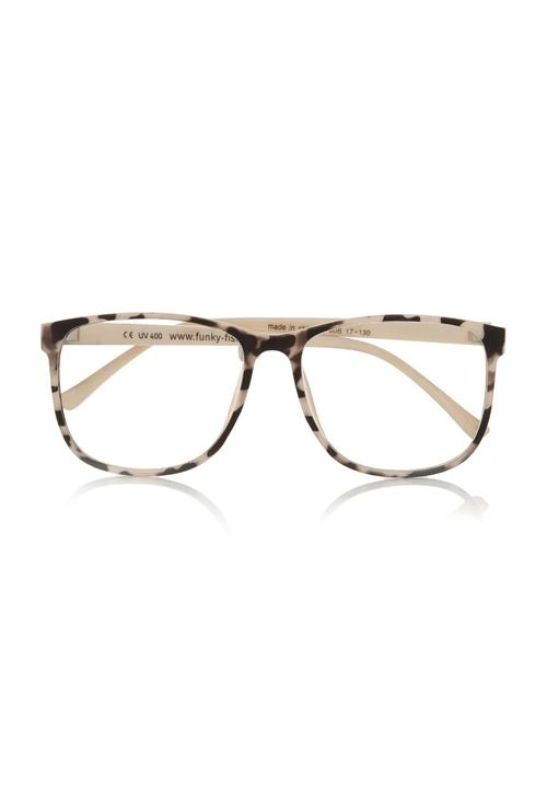 2df4175e6c1e Clear lens leopard-print glasses Multi-colour FUNKY FISH Eyewear ...