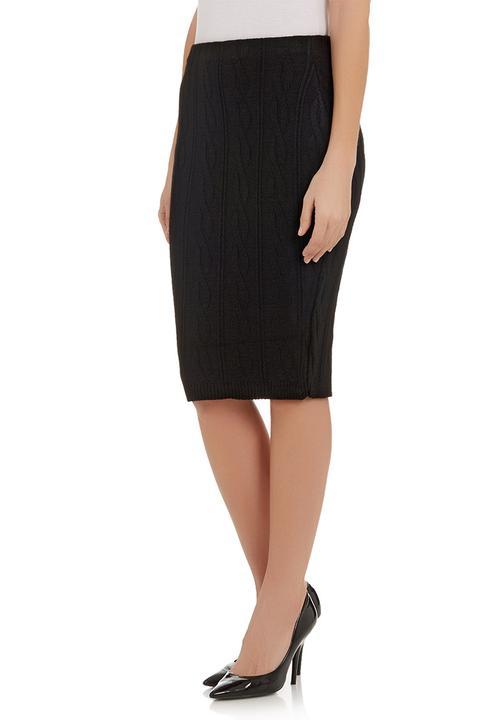 dc70aebe4 Cable knit pencil skirt Black London Hub Skirts | Superbalist.com