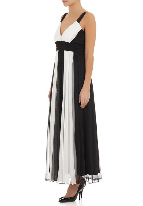ff6440c977c Mesh colourblock maxi dress Black/White edit Occasion | Superbalist.com