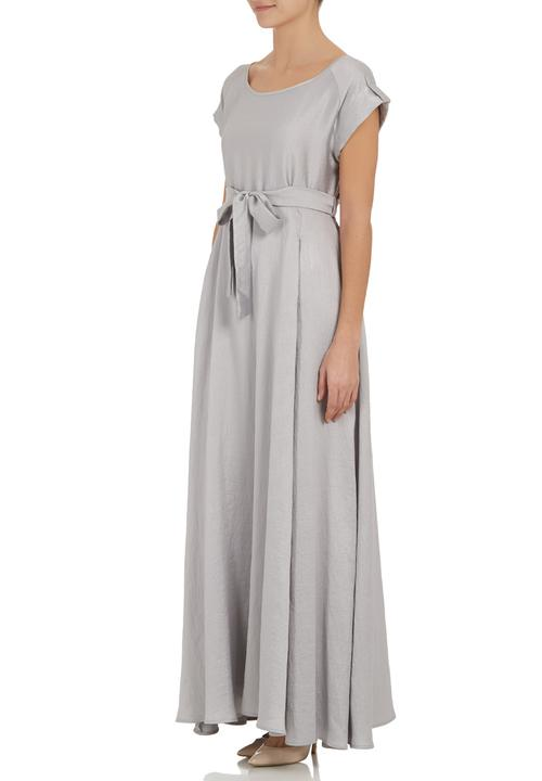 b30a8884a55 Maxi dress with cap sleeves Silver AMANDA LAIRD CHERRY Occasion ...