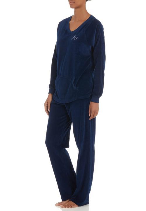 dd7df5fc869c Velour tracksuit Dark Blue Lila Rose Sleepwear
