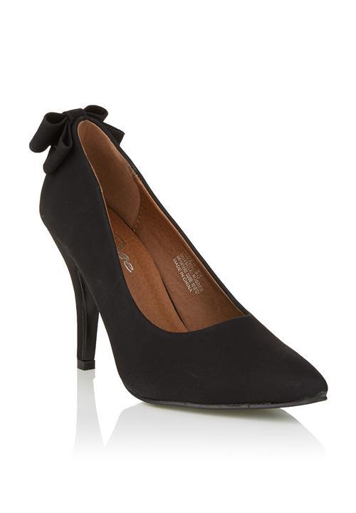 Heels with bow detail Black RAGE Heels