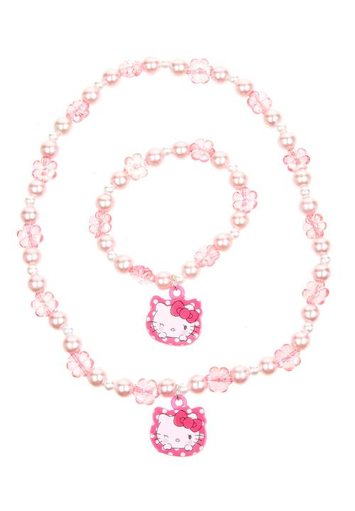 06531cd21 Hello Kitty Necklace and Bracelet Mid Pink Character Fashion ...