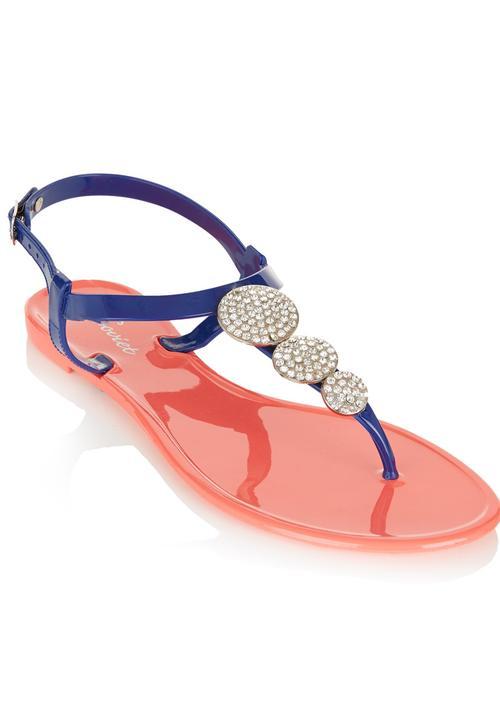c85bad914 Diamanté Sandals Coral SOVIET Sandals   Flip Flops
