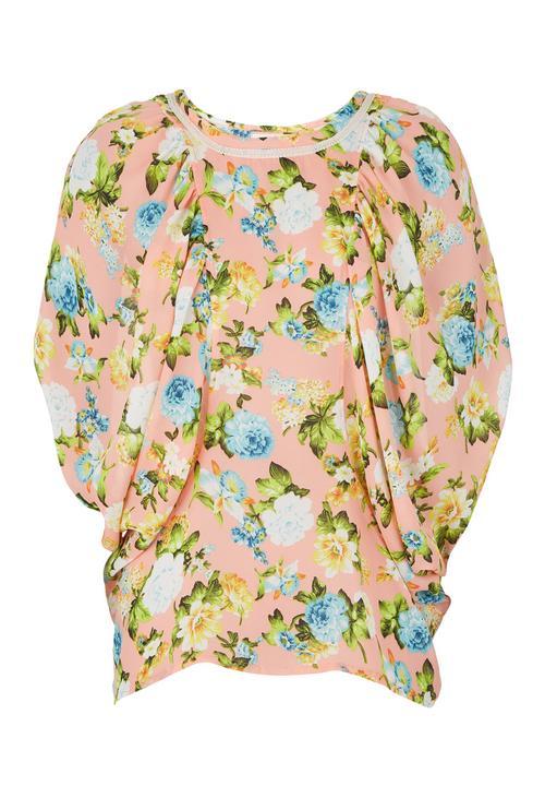 9f611623cdda3 Floral-print Batwing Top Multi-colour edit Blouses