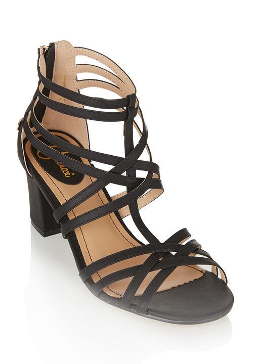 459f2f6f318a Strappy midi heels Black Carducci Heels