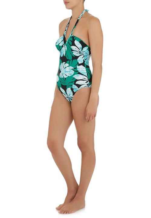 3ae6c0bd144 One-piece Swimsuit with V-neck Green Lu-May One Piece   Superbalist.com