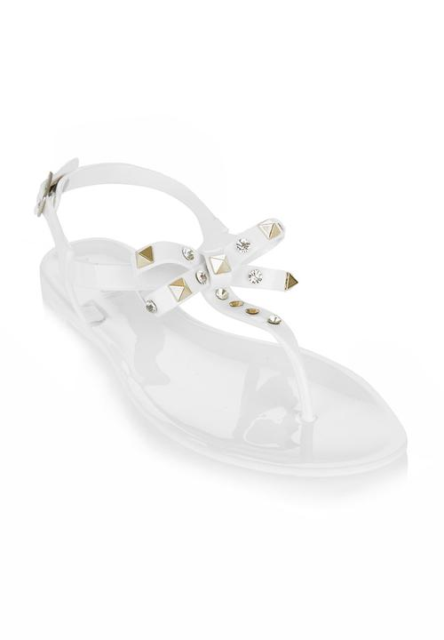2b098e56aba4 Jelly Sandals With Bows White Madison® Sandals   Flip Flops ...