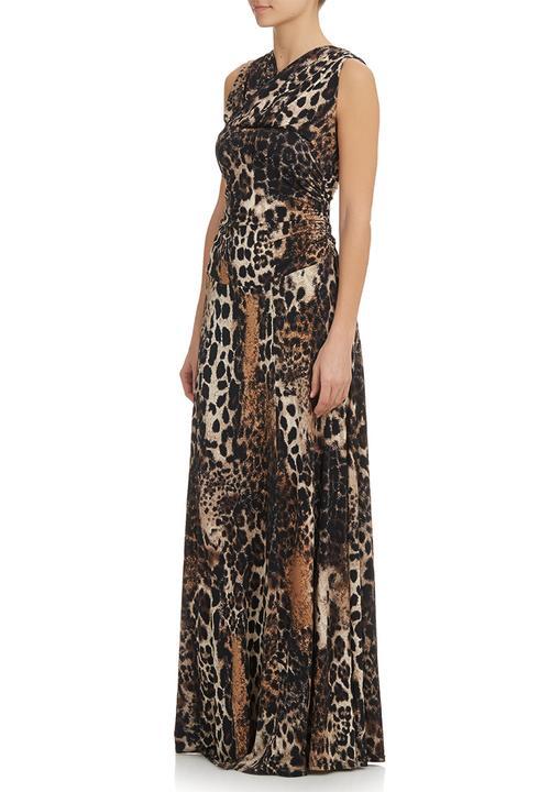 928dc95dea Leopard-Print Dress Brown/Black Pringle of Scotland Occasion ...